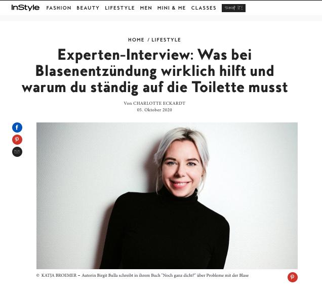 InStyle Interview noch ganz dicht